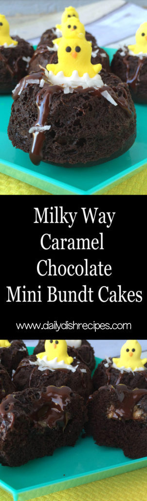 Milky Way Caramel Chocolate Mini Bundt Cakes