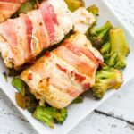 Smoked Bacon Wrapped Swiss Stuffed Chicken Breasts #boldbacon