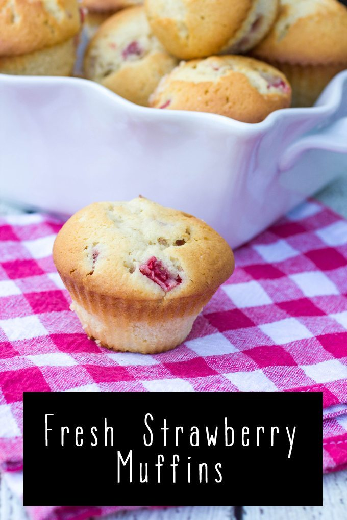 Top 20 Most Popular Recipes from 2016 Fresh Strawberry Muffins