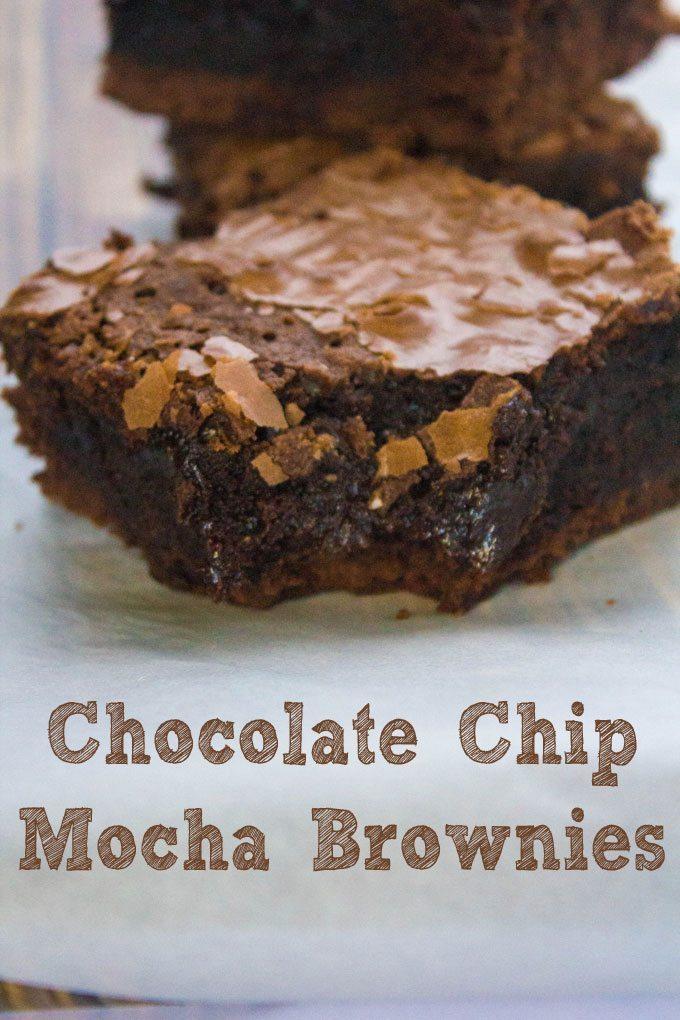 Chocolate Chip Mocha Brownies #SundaySupper