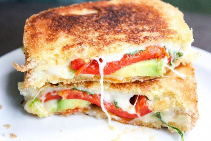 Avocado Bacon Gourmet Grilled Cheese Sandwich