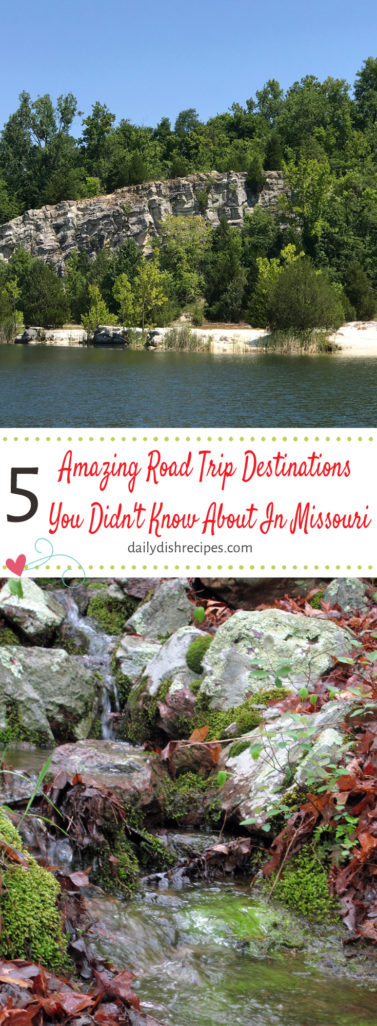Amazing Road Trip Destinations You Didn't Know About In Missouri - St. Charles, MO - Klondike Park, Arcadia Valley, MO, Eminence, MO - State Parks