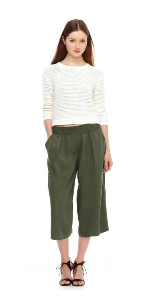 joe fresh khaki culottes