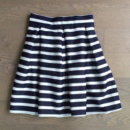chicwish striped tulip skirt