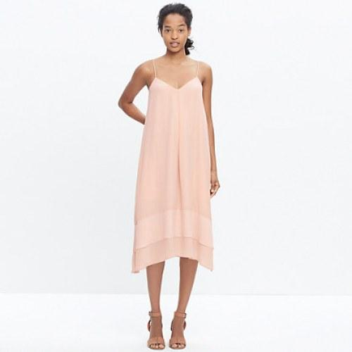 madewell silk coral cami dress