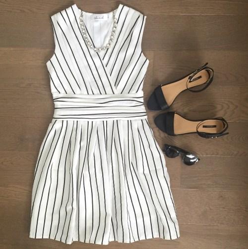 chicwish striped dress