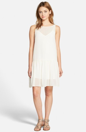 cupcakes and cashmere laurel sleeveless chiffon dress