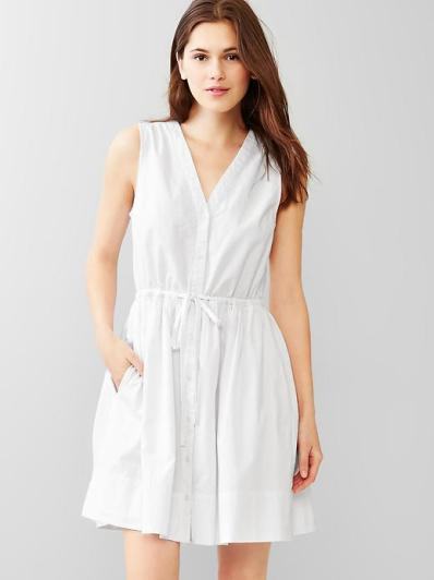 gap doby fit and flare dress