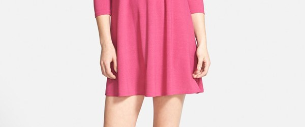 leith crepe trapeze dress