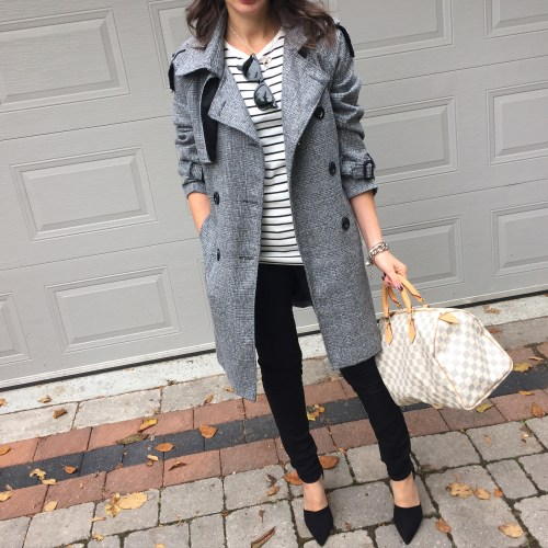 chicwish grey trench oufit