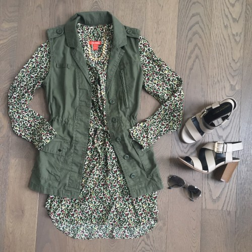 Joe fresh floral dress outfit