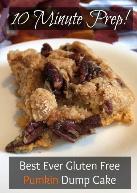 Best Ever Gluten Free Pumkin Dump Cake ~Prep in Under 10 Minutes!