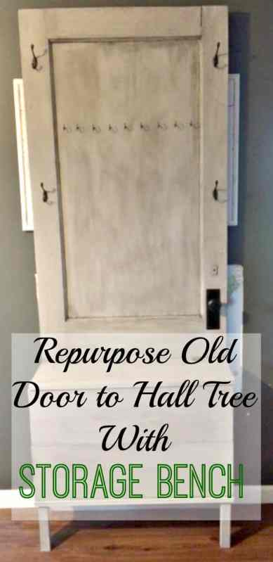 Entryway Storage Solution: Repurpose An Old Door To Hall Tree