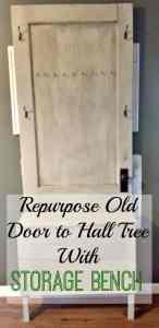 Old Door to Hall Tree Storage Bench