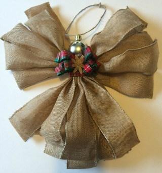 Burlap angel Ornament