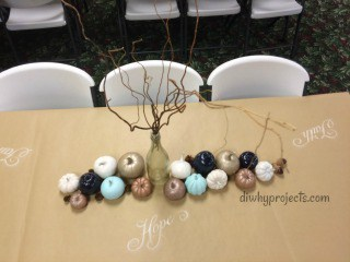 Rustic Fall Table Decor With Painted Pumpkins