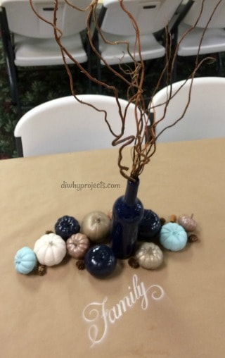 Painted Pumpkins Fall Table Decor