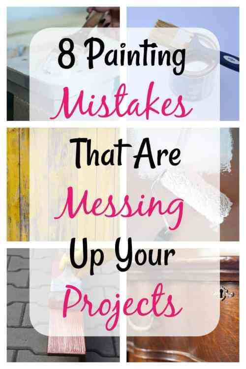 Are you making these Painting mistakes