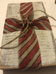 Rustic Christmas Burlap and Twine