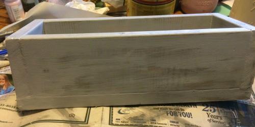 Painted Mason Jar Box tutorial
