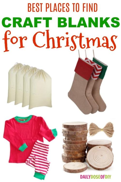 Best Places To Find Christmas Craft Blanks for Cricut and Silhouette