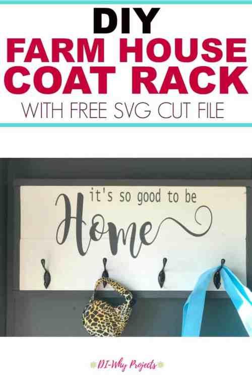 DIY Farmhouse Coat Rack, Cricut Project
