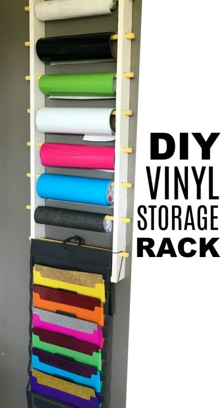 DIY Vinyl Storage Rack for Rolls and Sheets