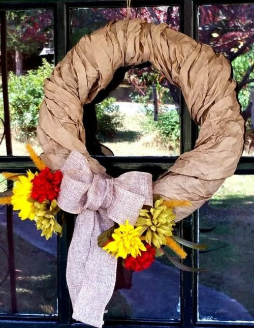 rustic diy Fall wreath
