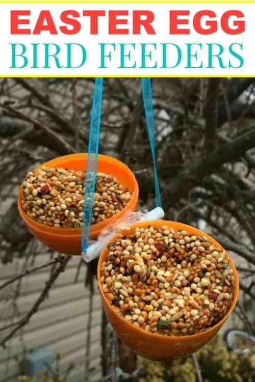 Hanging Easter Egg Bird Feeder