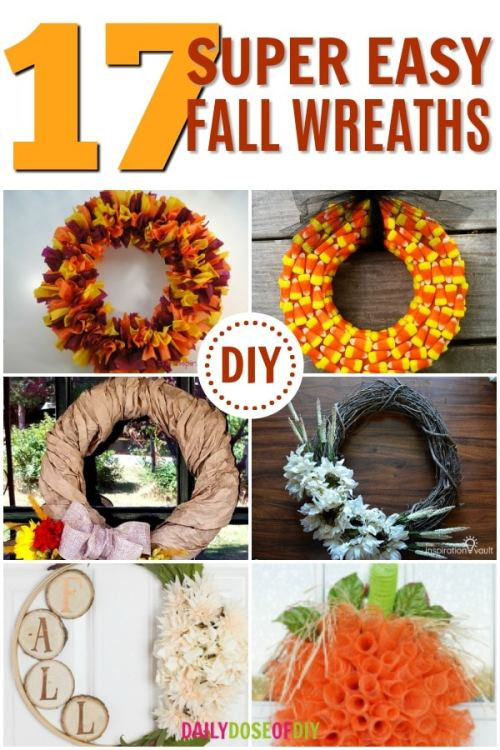 17 Super Easy DIY Fall Wreaths