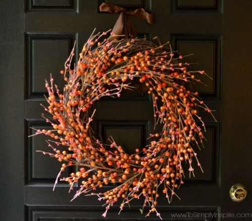easy Fall berry wreath