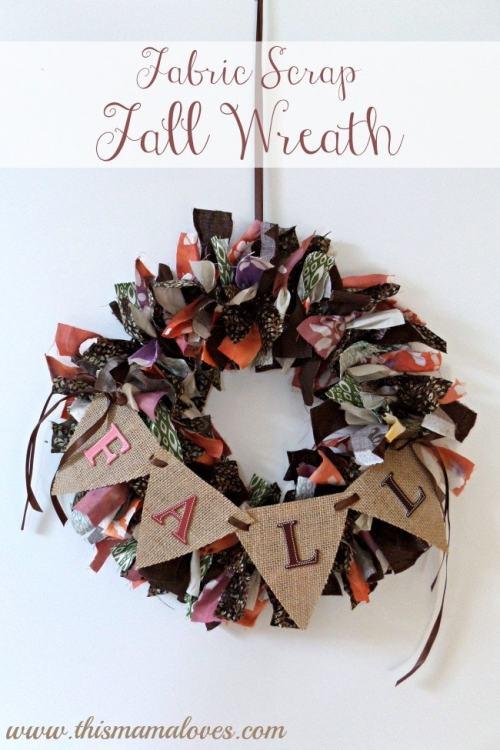 fall rag wreath diy