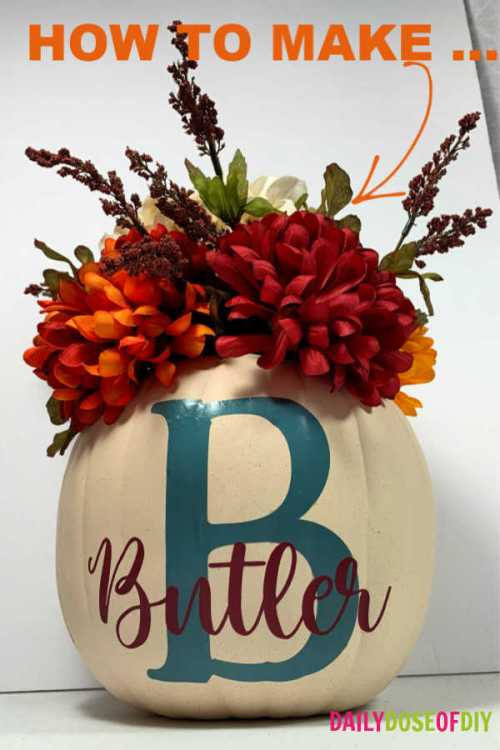FAUX PUMPKIN FALL CENTERPIECE