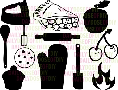 Kitchen SVG File to use with Freezer paper stencils