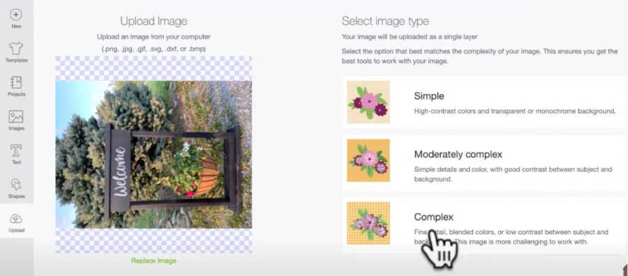 Save your photo as a complex image in Design Space to get the best quality