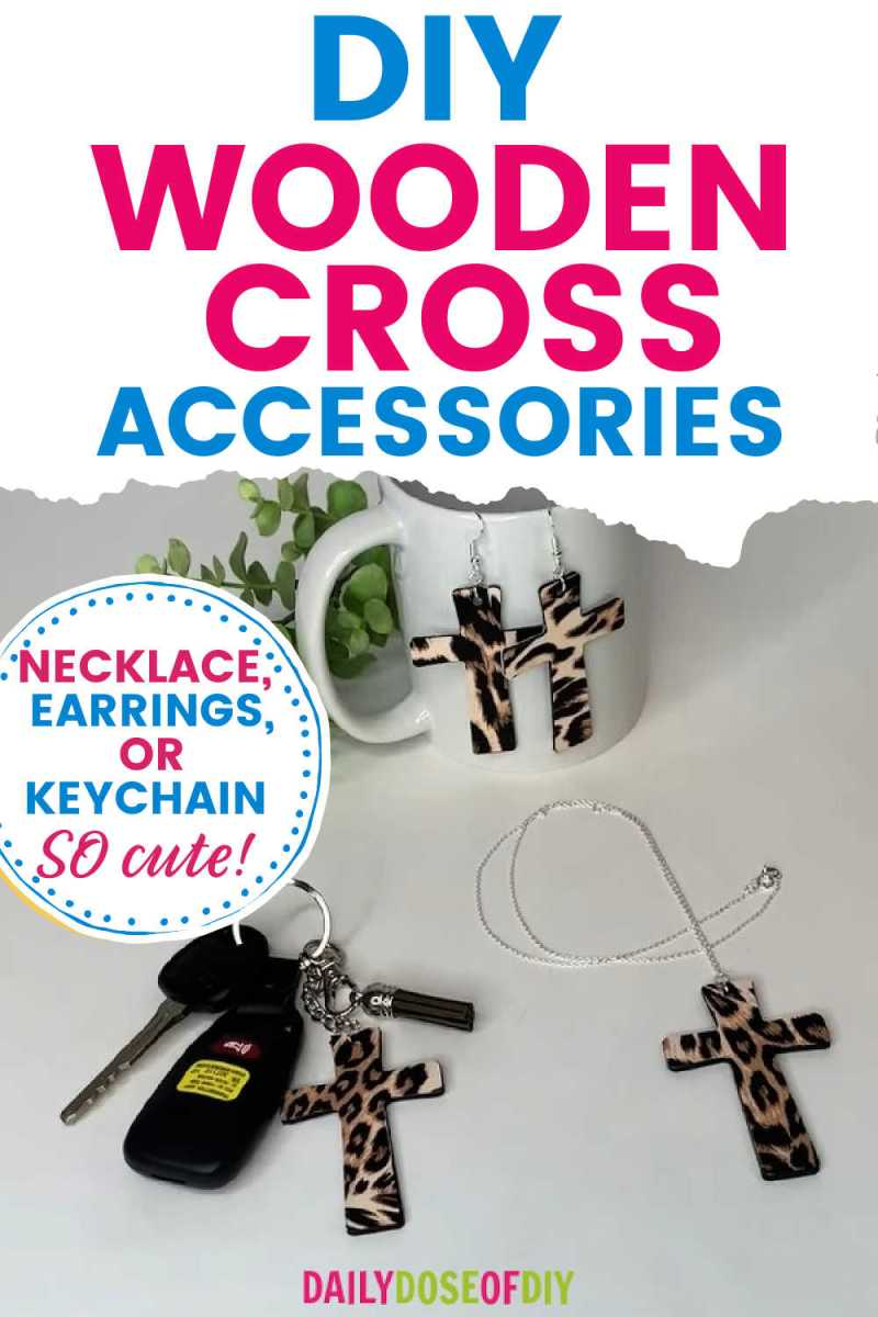 wooden cross accessories pin graphic