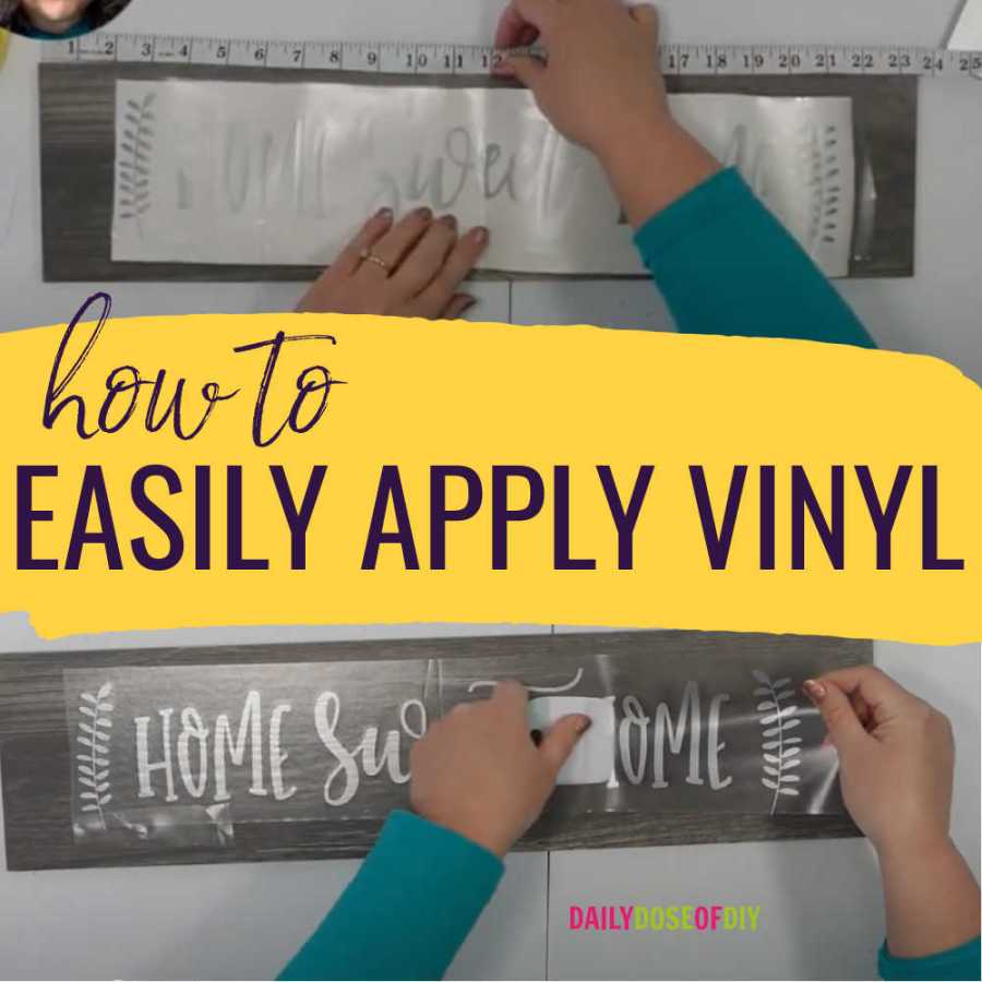 How to easily apply vinyl to surfaces