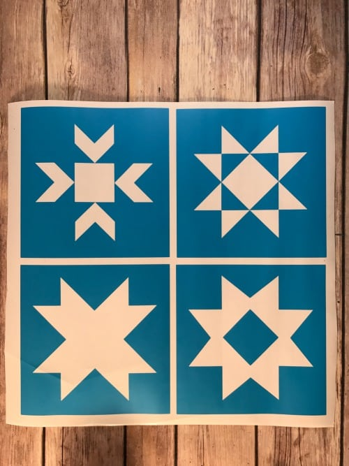 Barn Star Quilt block stencils