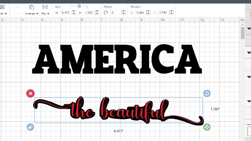 adjusting the size of the bleed out text for a knockout design