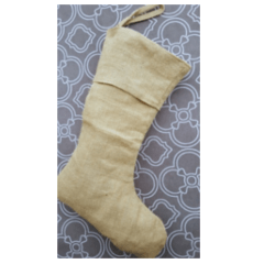 Burlap Christmas stocking craft blank for Christmas crafts