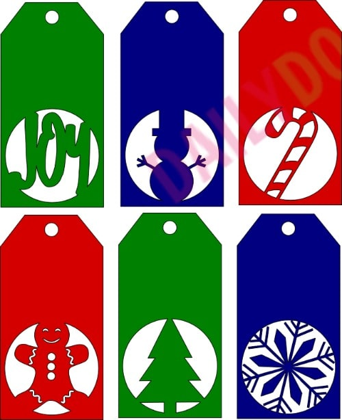 Free Christmas Gift Tag SVG file