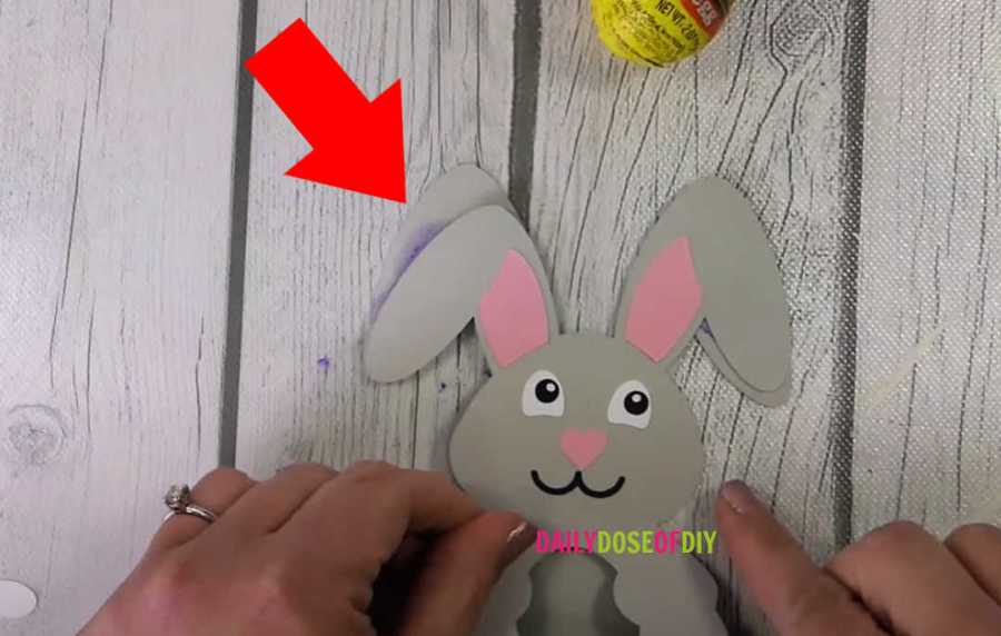 make sure the bunny ears line up before you glue the base on