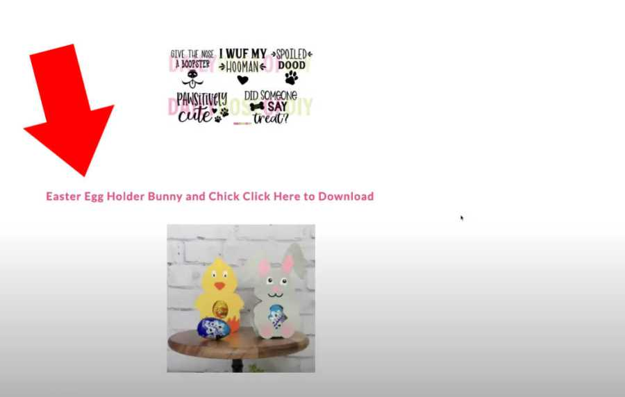 Bunny and Chick Easter egg Holder Download