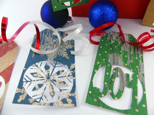 Free SVG Christmas Gift Tags with ribbon
