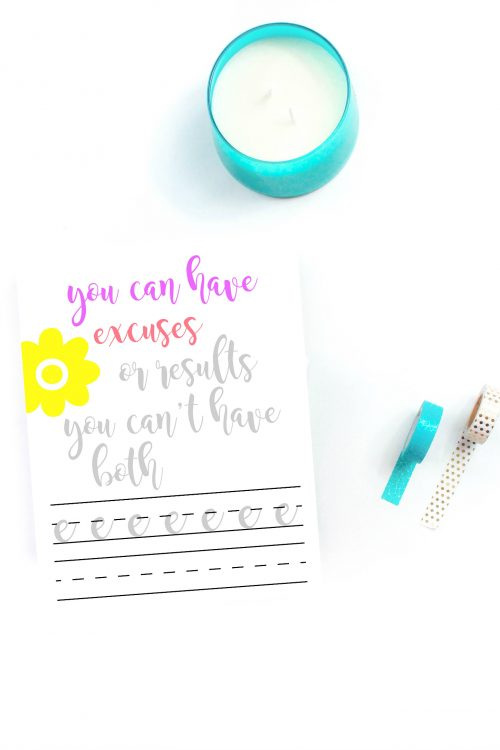 hand lettering practice sheet example