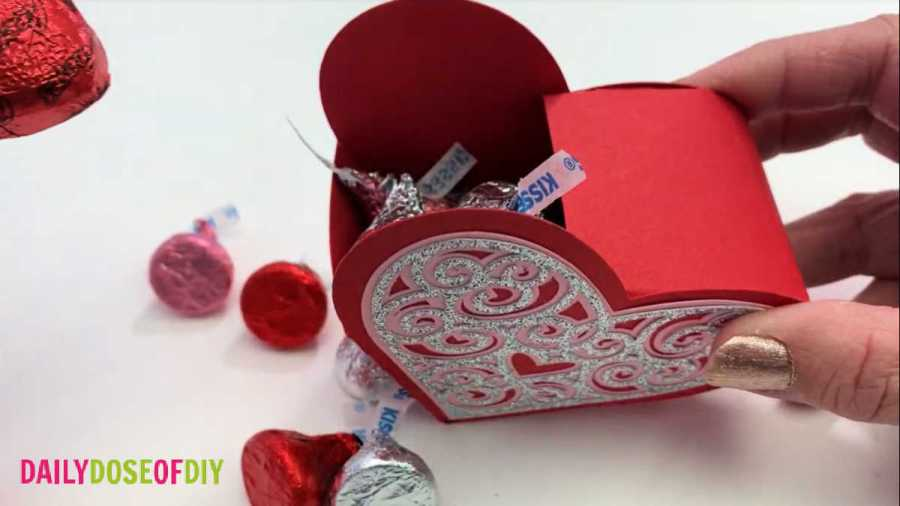 fill the box with candy for someone special