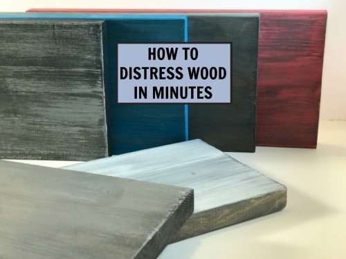 How to distress new wood in minutes with paint