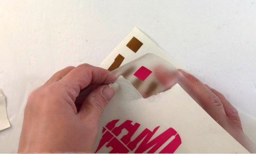 Line up your guides to layer adhesive vinyl