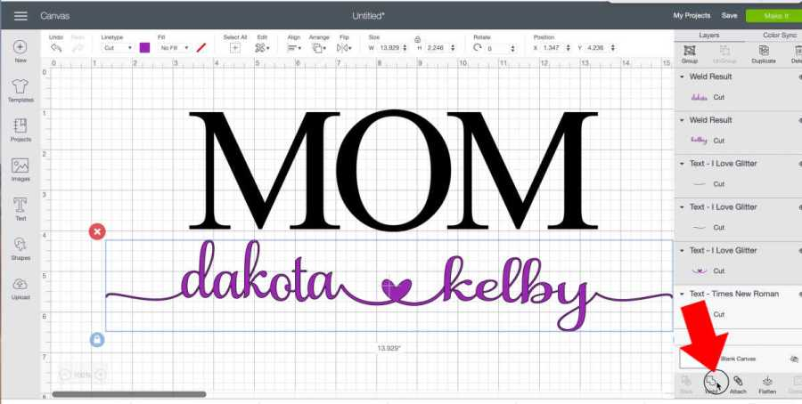 design for mom shirt with the Cricut