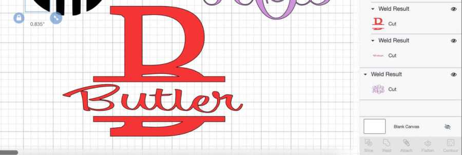 Make Easy Monograms with Cricut -Three Ways - Daily Dose of DIY